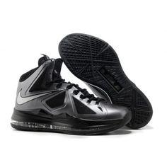 Nike Lebron X Mens Basketball Shoes Cool Grey Black