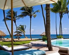 Looking out on the bright blue ocean from the Zoëtry Agua Resort & Spa - Punta Cana.