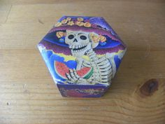 Decoupage Collectable Pinewood Catrina Skeleton Lady by Etnochik, $19.99