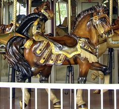 lovely old carousel horse