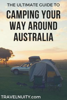 The Ultimate Guide to Camping Your Way Around Australia Wanting to travel around Australia on a budget? This is the ultimate guide on camping your way around Australia: time of year, camping sites, vehicle, camping gear and what else to pack. Camping Bedarf, Camping Items, Camping Places, Camping Spots, Camping Guide, Camping With Kids, Camping Cabins, Camping Gadgets, Camping Trailers