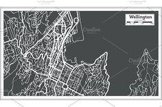 #Wellington #New #Zealand #City #Map  by Igor Sorokin on @creativemarket