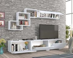 How and where to make a modern TV cabinet design? Living Room Tv Unit Designs, Wall Unit Designs, Tv Wall Design, Modern Tv Cabinet, Modern Tv Wall Units, Tv Wall Cabinets, Living Room Cabinets, Tv Wall Shelves, Wall Tv