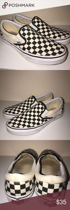 b070629d477 Ckeckerboard Slip-On Vans Checkerboard Slip-On Vans size 9 in mens and 10.5
