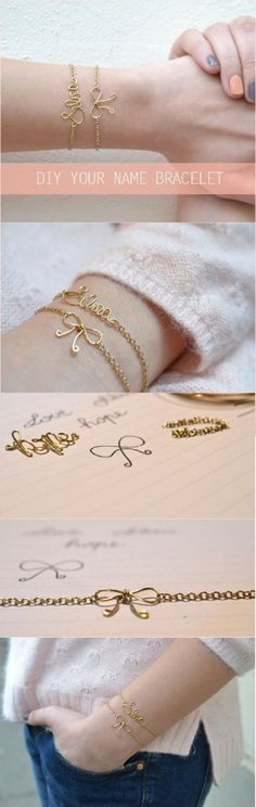 DIY fashionable bracelet. You can really make this bracelet mean something, that's why it's so great.