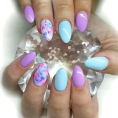 Pretty Purple Marble - These Pretty Pastel Nails Are Perfect For Spring - Photos