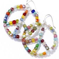 sea bead peace earrings