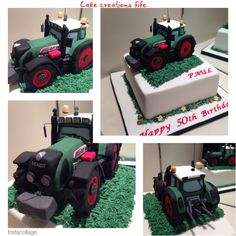 Fendt 820 tractor cake. Icing model tractor topper