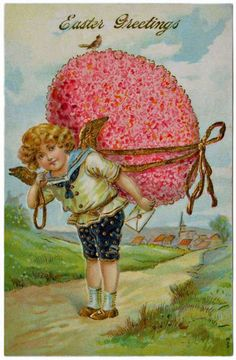 vintage everyday: 15 Vintage Easter Cards from the Early 20th Century