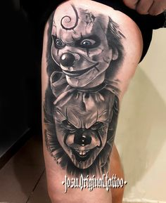 Wolf Ripping Flesh Tattoos Designs for Men Clown Face Tattoo, Evil Clown Tattoos, Creepy Tattoos, Face Tattoos, Body Art Tattoos, Cool Tattoos, Horror Tattoos, Ripped Skin Tattoo, Flesh Tattoo