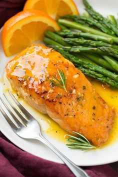 Orange-Rosemary Glazed Salmon - Cooking Classy - made it with tuna filets and it was excellent. Easy Salmon Recipes, Fish Recipes, Seafood Recipes, Dinner Recipes, Cooking Recipes, Healthy Recipes, Healthy Snacks, Salmon Dishes, Fish Dishes