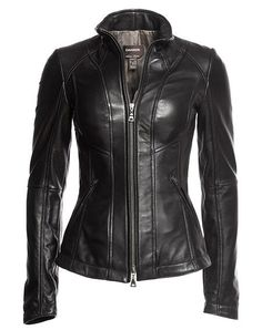 100% lambskin genuine leather. 100% brand new condition with original tag and superior quality. Lambskin leather is soft and comfortable to wear. Stylish and slimfit, suit for most handsome sportsmen.