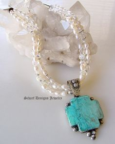 rocki gorman jewelry | Rocki Gorman Turquoise Crosspath Pendant | Schaef Designs Jewelry ...