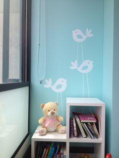 Wall decal - Pájaros blancos en vinilo autoadhesivo