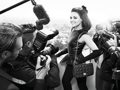 Leather coolness. Mila Kunis for Dior.