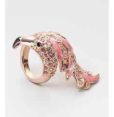 GUESS Rose Stone Flamingo Ring - Size 8 at www.bonton.com