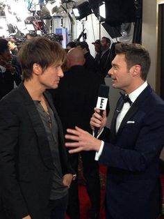 Keith and Ryan on the red carpet.