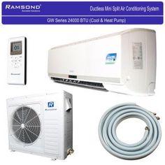 Ramsond BTU 2 Ton Ductless Mini Split Air Conditioner and Heat Pump - - The Home Depot