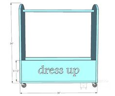Dress up closet instructions so we can finally get rid of the big ol' cardboard box.