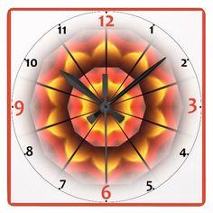 Wonderful Kaleidoscopic Art Design Wall Clock.