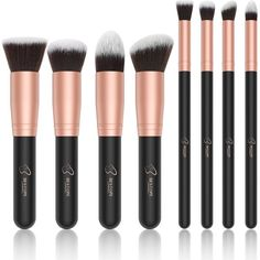 BESTOPE Makeup Brushes Premium Cosmetic Makeup Brush Set Synthetic... (€12) ❤ liked on Polyvore featuring beauty products, makeup, makeup tools, makeup brushes, contour makeup brush and contour brush