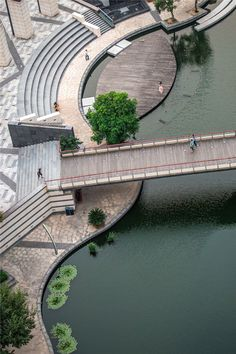 4 of 23 from gallery of Zhangjiagang Town River Reconstruction / Botao Landscape. Courtesy of Botao LandscapeImage 4 of 23 from gallery of Zhangjiagang Town River Reconstruction / Botao Landscape. Courtesy of Botao Landscape Landscape And Urbanism, Landscape Architecture Design, Garden Landscape Design, Urban Landscape, Landscape Designs, Landscape Fabric, Architecture Portfolio, Landscape Rake, Landscape Steps