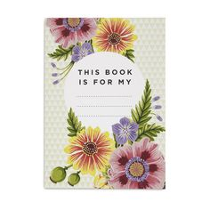 Beautiful Blooms Notebook (Sml)