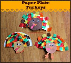 These paper plate turkeys are a cute Thanksgiving craft that kids of all ages can do!  #thanksgiving #crafts