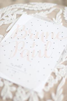 faire-part élégant ©MonkeyChoo Place Cards, Place Card Holders, Invitations, Elegant Wedding, Copper, Classic, Pattern, Silver, Top