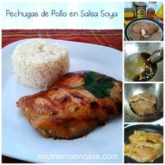 receta facil de pollo con salsa soya - soy mama en casa
