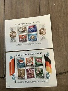 east german stamps DDR Karl marx mini Sheets 1953  | eBay Karl Marx, German Stamps, Old And New, Germany, Mini, Ebay, German, Deutsch
