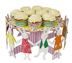 Paperboard Easter cake stand and other adorable partyware at Meri Meri