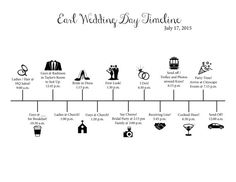 Custom Wedding Day Timeline!