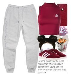A fashion look from October 2016 featuring crop tops and adidas trainers. Browse and shop related looks. Polyvore Casual, Polyvore Dress, Polyvore Outfits, Polyvore Fashion, Cute Lazy Outfits, Stylish Outfits, Mode Ulzzang, Teen Fashion, Fashion Outfits