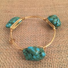 Bourbon and Boweties Turquoise Nugget Standard Wrist