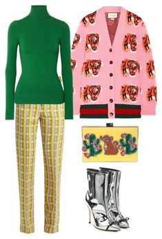 """""""Untitled #2827"""" by moxieremon on Polyvore featuring Miu Miu, Gucci, JoosTricot, Marco de Vincenzo and GEDEBE"""