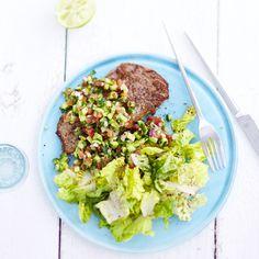 Rumpsteak mit Avocado-Limetten-Salsa Rezepte | Weight Watchers