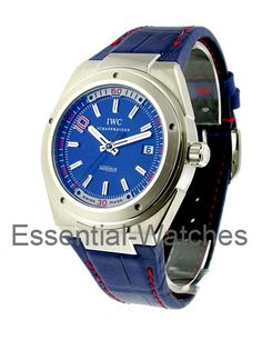 IWC IW323403  Ingenieur Zin�dine Zidane Limited Edition - Steel on Strap with Blue Dial - Limited to 1000pcs  Item ID - 23956 Model # - IW323403 Case - Steel Case Size - 44mm Movement - Automatic Dial - Blue Bracelet - Blue Retail Price - $9,900 Your Price - $5,586