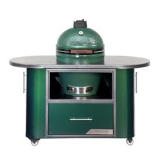 The Big Green Egg Compact Custom Cooking Island is 60 in / 1.5 m in length. Click Here