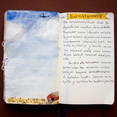 From sketchbook of Petri Fills #sketchbook #drawing #barnstormers #historia