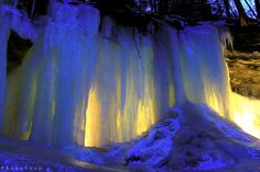 Eben Ice Caves--night photo by PhotoYoop - Awesome place near Eben Junction in the U.P. of Michigan--  should be on your bucket list!