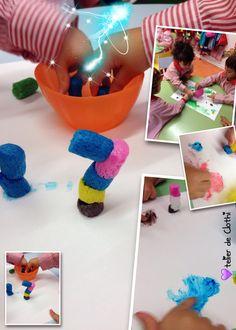 Maicitos de colores, construcciones en el espacio y pintura...