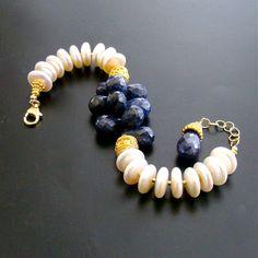 #1 Loretta II Bracelet – Sappires & Coin Pearls