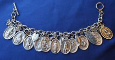The bracelet has a lobster clasp closure. This bracelet arrives in an organza gift bag with a prayer card. The bracelet would make a lovely gift or a special gift for yourself. Shield with cross. Blue Pendant Light, St Francis, St Michael, Crosses, Saints, Charmed, Bracelets, Gift, Ebay