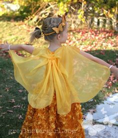 butterfly cape DIY for a butterfly princess Halloween costume