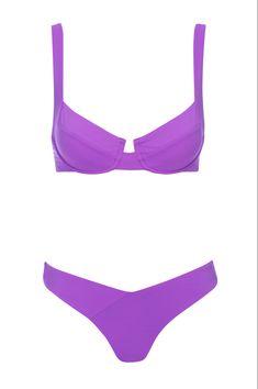 Purple bikini underwire from vetchy 2020 Bikini Set, Bikini Tops, Bra Size 32, Purple Bikini, Celebrity Bikini, Underwire Bikini Top, Blonde Model, Bright Purple, Bikini Fashion