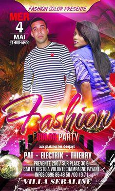 Fashion Color Party à Villa Séraline Vous aussi intégrez vos événements dans l'Agenda des Sorties de www.bellemartinique.com C'est GRATUIT !  #martinique #Antilles #domtom #outremer #concert #agenda #sortie #soiree