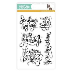 Simon Says Clear Stamps BIG SCRIPTY GREETINGS sss101527 The Color of Fun