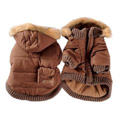 Pocket Dog Parka by Dogo - Brown Pocket Dog, Dog Winter Coat, Classic Trench Coat, Parka Style, Pet Fashion, Dog Costumes, Dog Coats, Pet Clothes, Pets