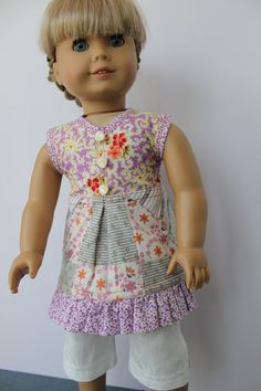 American Girl Doll Clothes  Halter Tunic and by ForAllTimeDesigns, $35.00
